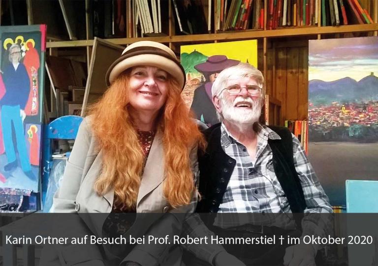 Karin Ortner auf Besuch bei Prof. Robert Hammerstiel