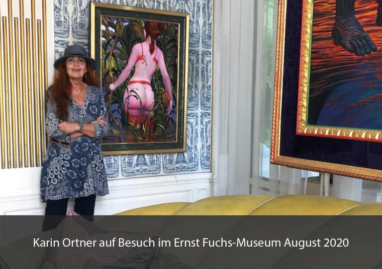 Karin Ortner beim Maler Ernst Fuchs